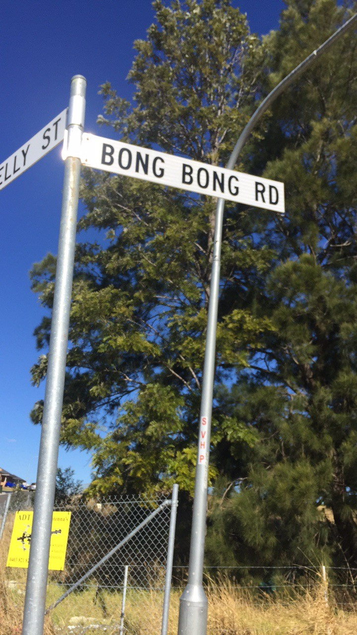 Property Bong Bong Street Sign